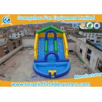 China Amusement Park Bounce Round Water Slide Inflatable Slide With Pool For Game on sale