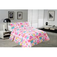Quality Cake Pattern Printed Quilt Set Washable 240x260 / 260x280cm Bed Cover Sizes for sale