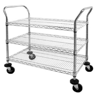 Quality 800lbs / Shelf SS Industrial Wire Shelving Units NSF Certificated for sale