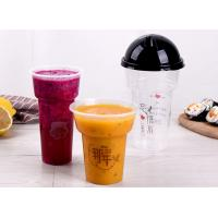 China 500ml 700ml Disposable Ice Cream Cups / Plastic Salad Cups Food Grade on sale