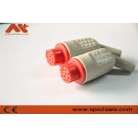 Quality IBP connector accessory compatible for Datex IBP adapter cable with 10pin red color for sale