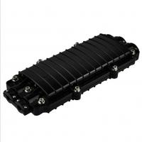 Quality ABS /PPT Black Horizontal Type Fiber Optic Joint Box 24 - 96 Fiber With Splicing for sale