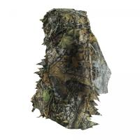 Quality Safety full Face Mask Surround Mesh With Elasticated Draw Cord Duck Hunting Face Mask 3D Leaf Face Hunting Mask for sale
