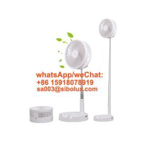 Quality foldable small table dc stand desktop plastic electric fan floor fan/standing fan/box fan packable design for sale