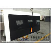 Quality Pure Black Quartz Stone Slabs for sale