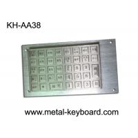 Quality Vandal Proof Rugged Stainless steel Keyboard with 38 Keys Charging Kiosk Keyboard for sale