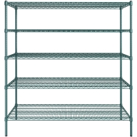 Quality 445lbs 200kg Five Tier Storage Home Wire Shelving With Wheels for sale