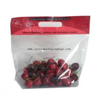 Quality Clear Fruit Packaging Bags Custom Printing 100% Biodegradable Plastic Handle Zipper Lock for sale