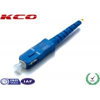 Best Single Mode Fiber Optic Connectors / Fiber Optic SC Connector Pre Assemly wholesale