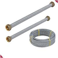 Quality flexible stainless steel pipe with copper conenctors for sale