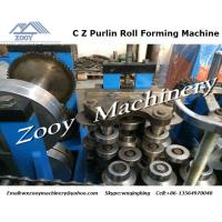 Quality Automatic Roll Forming Machine PLC control , C Z Purlin Type for sale