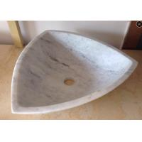 Quality Arabescato White Marble Basin / Bathroom Wash Sink Wood Vein Marble Basin for sale