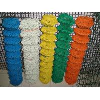 Quality Green PVC 2 Inch Chain Link Wire Mesh , Privacy Chain Link Sports Fence for sale