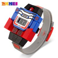 China Transformers Toy Digital Multi Alarm Watch Customized Kids Gifts on sale
