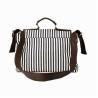 Best Fashion Stripe Synthetic Leather Business Tote Sling Bag Of Adjustable Shoulder Strap wholesale