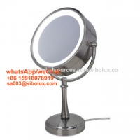 """Quality 7 inch makeup mirror with LED light/7"""" portable standing mirror stand mirror for sale"""