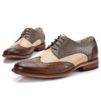 Sheep Skin Upper Two Tone Classic Dress Shoes Breathable Customised Color