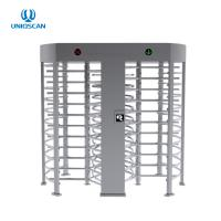 Quality 1.5mm Thickness SS304 Double Lane Full Height Turnstile for sale