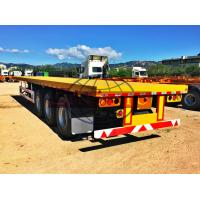 Quality BPW Axle Container Semi Trailer 50 Tons 40ft 3 Axle Flatbed Semi Trailer for sale