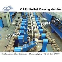 Quality High Speed C Z Purlin Forming Machine , sheet metal rolling for house for sale
