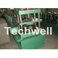 Quality GCr15 Steel Cable Tray Roll Forming Machine For Storage Rack , Rack Beam 12-15m/min for sale
