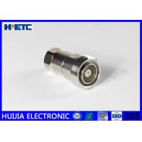 """Quality RF Straight Female Din Connector , TFE Insulators 50ohm 1/2"""" Coaxial Cable Adapter for sale"""