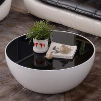 Quality living room furniture fibergass round bowl shaped coffee table for sale