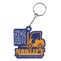 Quality Custom Designed 2D Flat Soft Touch PVC Rubber Keychain, Custom Promotional Business Advertising Gift for sale