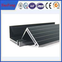supply aluminum angle extrusion, high quality solar panels supporting rod aluminium profil