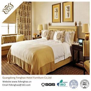 European Style Villa / Resort Hotel Bedroom Furniture Sets Solid Wooden Frame
