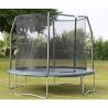 Best Park amusement 12FT heavy duty black Jumping Trampoline and enclosure wholesale