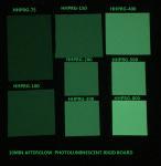 Glow in the dark rigid board Photoluminescent rigid PVC sheet HHPRG-series used