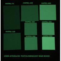 Buy Glow in the dark rigid board Photoluminescent rigid PVC sheet HHPRG-series used at wholesale prices