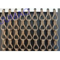 Quality Food Industry  Metal Chain Link Curtains Imaginative With Fly Inset Control for sale