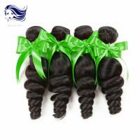 China 7A Sensationnel Unprocessed Human HairExtensions Jet Black Wavy Hair on sale