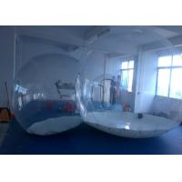 Quality Round Transparent inflatable lawn tent bubble for camping , movable and foldable for sale