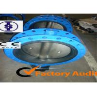 Quality Manual Lever Operated Butterfly Valve / ANSI Lug Type Butterfly Valves with Rubber lined Disc for sale