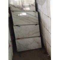 China Guangxi White marble polished 240x140cm tile slab gloss floor tiles window sill on sale