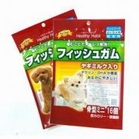 Quality Standup Retort Pouches for Wet Pet, Dog, Cat Food, Made of PET, PET SiOx, NY, AL and CPP for sale