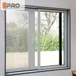 Waterproof Anodised Aluminium Sliding Windows With Single Tempered Glass