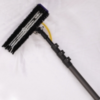 Quality Rolling tapered round customized extendable carbon fiber window cleaning pole for sale