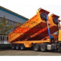 Quality 28 - 38m3 Semi Dump Trailers High Strength Steel Material Three Axle for sale