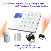 China 2014 Newest Android app Touch home security gsm alarm system Wireless zones and wired zones on sale