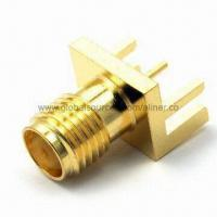 Quality SMA Straight Jack RF Coaxial Connector, Suitable for PCB Edge Mount for sale