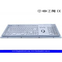 Quality Rugged Metal Industrial Keyboard With Trackball 103 Function Keys And Number Keypad for sale