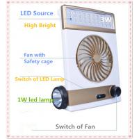 Quality Solar Powered Fan with 31PCS LED Lamp and USB Charge to Phone for sale