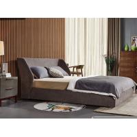 Quality Durable Double Upholstered Bed , Home Furniture Fabric Bed Frame General Use for sale