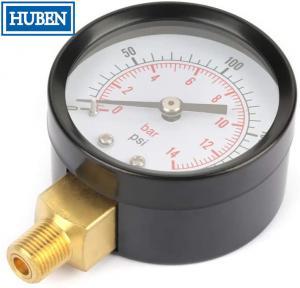 "Quality Manometer Pressure Gauge Side/Bottom Entry M20x1,5 + 1/2"" BSP Reduction 100mm for sale"
