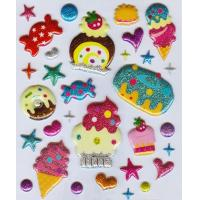 Best Smile face puffy stickers for kids wholesale