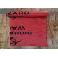 China Heat Sealing Medical Garbage Bags PE Material Customised Printed Recyclable on sale